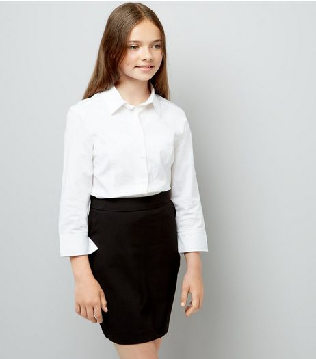 Teens Black High Waist Skirt | New Look