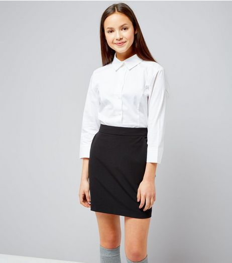 Teens Navy High Waist Skirt | New Look