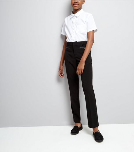 Teens Black Pocket Trim Trousers | New Look