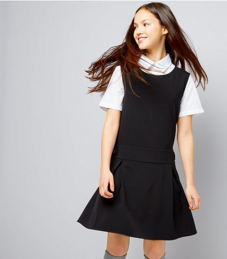 Teens Black Pinafore Dress | New Look
