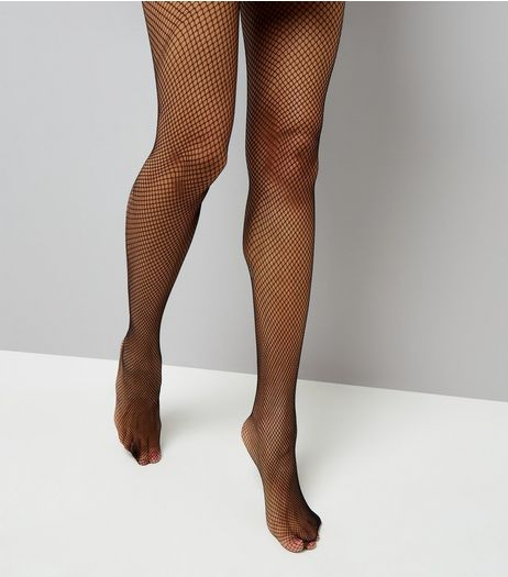 Black Fishnet Tights  | New Look