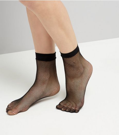 Black Fishnet Socks | New Look