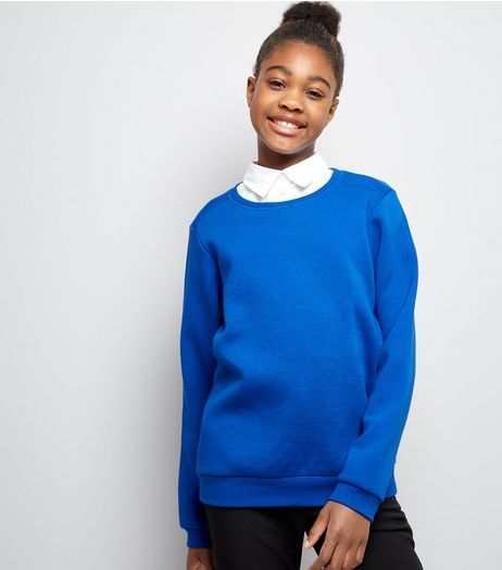 Teens Blue Crew Neck Jumper | New Look