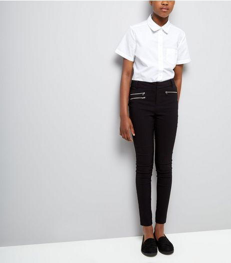 Teens Black Zip Pocket Skinny Trousers | New Look