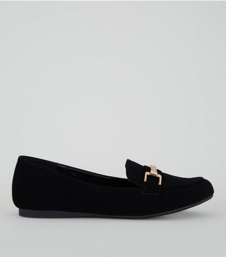 Black Comfort Bar Front Loafers | New Look