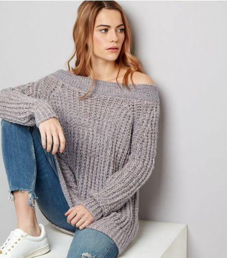 Pink Twist Yarn 2 Way Jumper | New Look