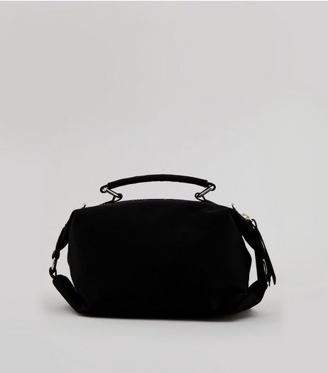Black Neon Zip Rectangle Bag | New Look