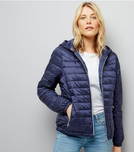 Navy Lightweight Puffer Jacket | New Look