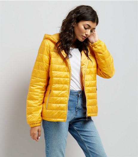 Yellow Lightweight Puffer Jacket | New Look