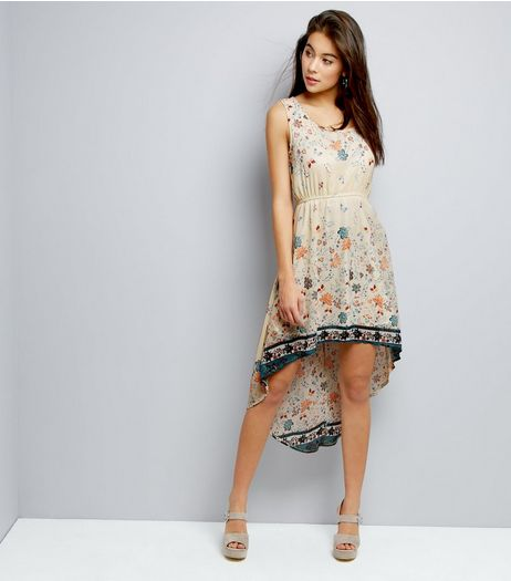Mela Cream Floral Print Sleeveless Dress | New Look
