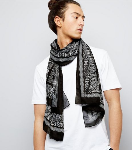 Black Bandana Scarf | New Look