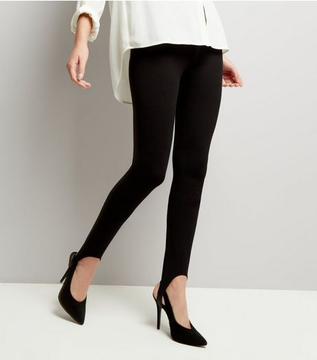 Black Stirrup Leggings  | New Look