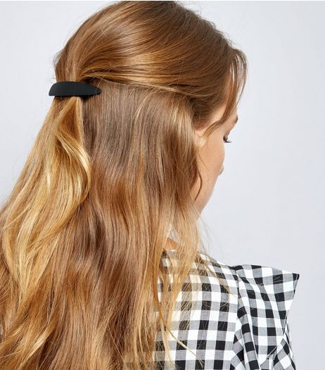 Matte Black Oversized Hair Slide | New Look