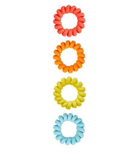 4 Pack Neon Spiral Bobbles | New Look