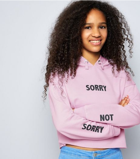 Teens Lilac Sorry Not Sorry Hoodie | New Look