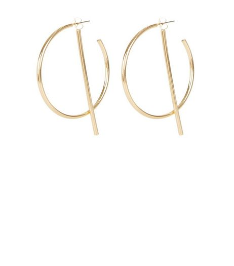 Gold Hoop and Bar Earrings | New Look