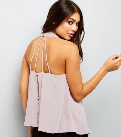 Mink Strappy Halter Neck Top  | New Look