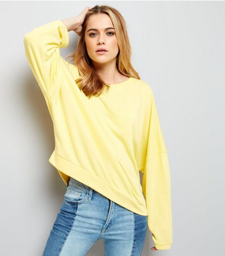 Yellow Batwing Sleeve Sweater  | New Look