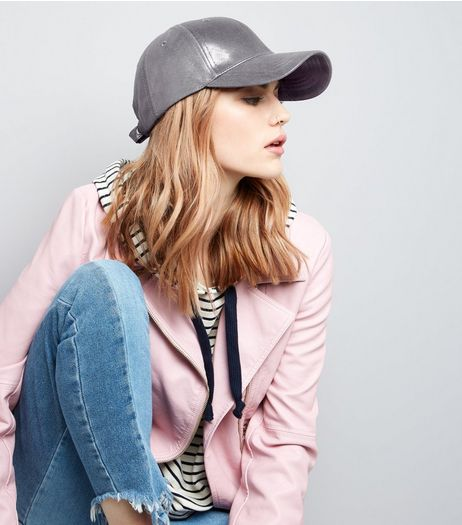 Grey Metallic Cap | New Look