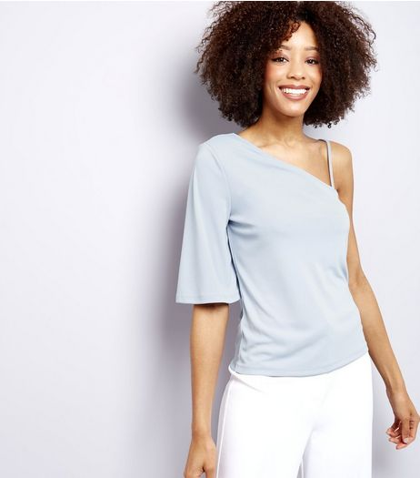 Pale Blue Off the Shoulder Top | New Look