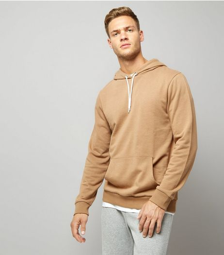 Camel Pocket Front Hoodie | New Look