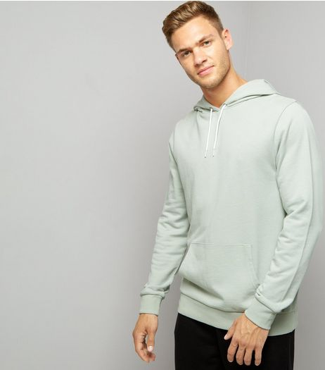 Mint Green Pocket Front Hoodie | New Look