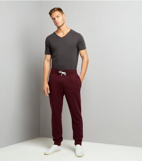 Burgundy Joggers | New Look