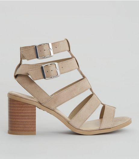 Teens Tan Suedette Multi Strap Sandals | New Look