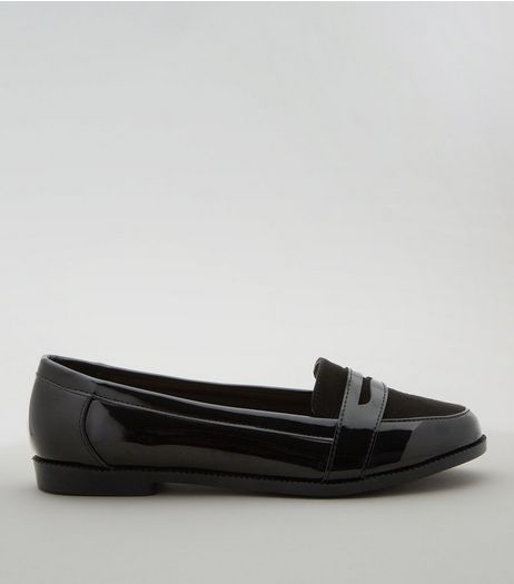 Teens Black Patent School Loafers | New Look
