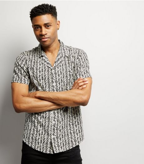 White Aztec Print Short Sleeve Shirt | New Look