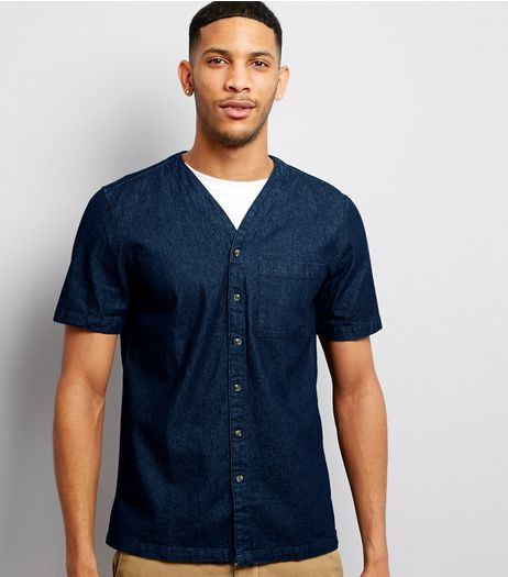 Navy Baseball Shirt | New Look