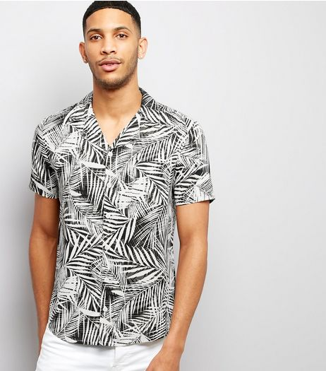 White Palm Print Short Sleeve Shirt | New Look