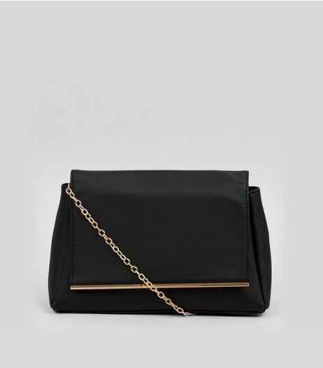 Black Metal Trim Shoulder Bag | New Look
