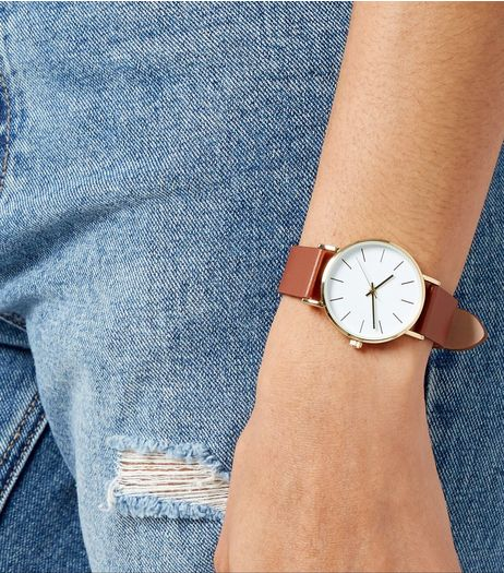 Tan Leather Strap Watch | New Look