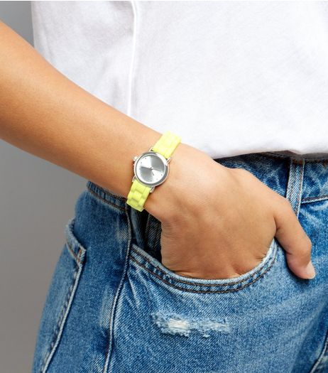 Neon Yellow Mini Watch  | New Look