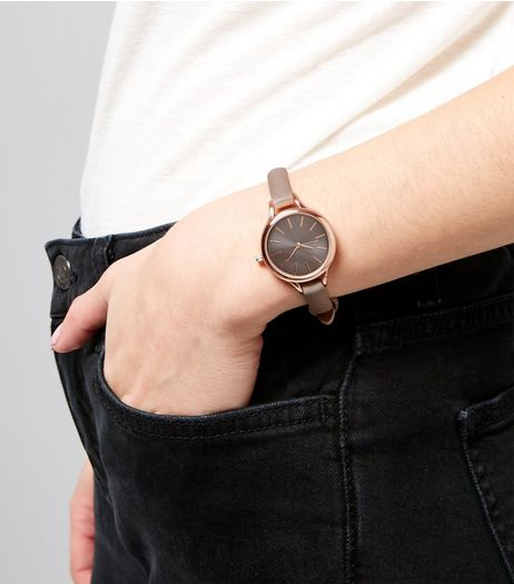Charcoal Grey Mini Watch | New Look