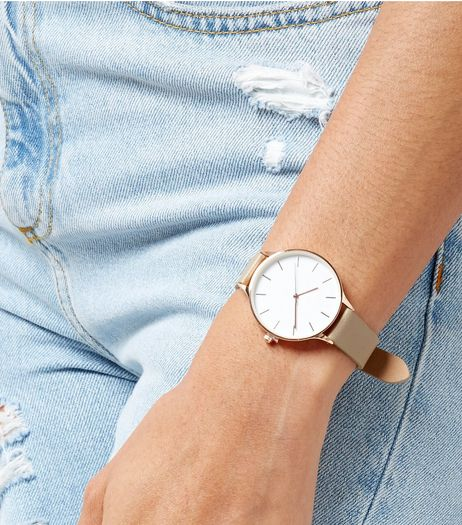 Mink Metallic Strap Watch | New Look