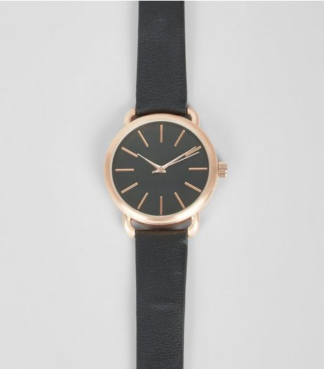Black Contrast Trim Watch | New Look