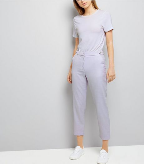 Lilac Cropped Trousers | New Look