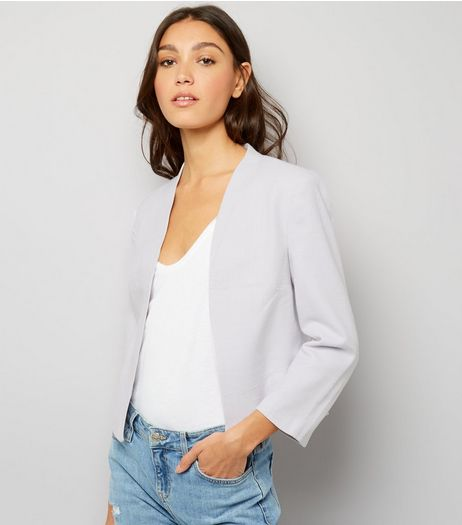 Lilac Cross Hatch Jacket | New Look