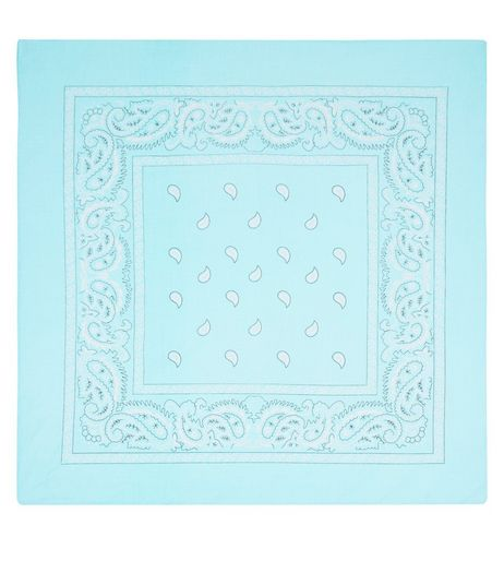 Bright Blue Paisley Print Bandana | New Look