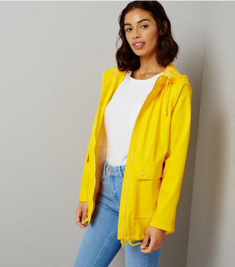 Petite Yellow Matte Anorak | New Look