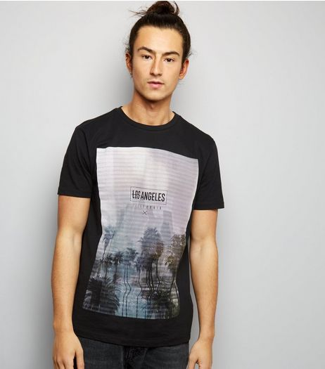 Black Los Angeles T-Shirt | New Look