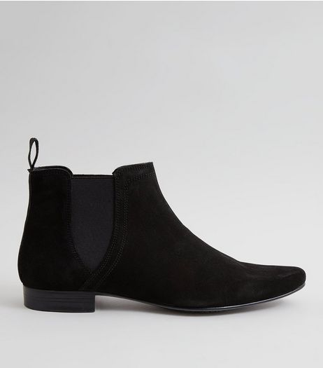 Black Suede Chelsea Boots | New Look