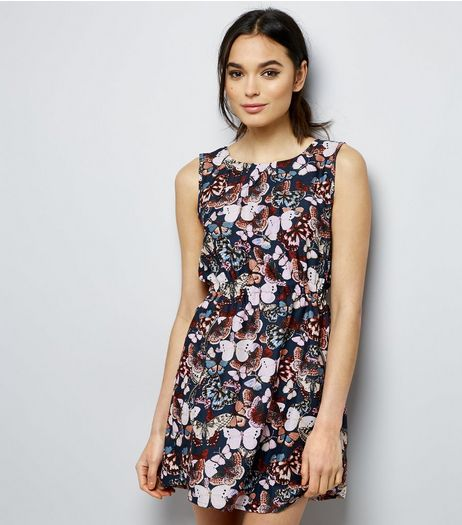 Mela Pink Butterfly Print Sleeveless Dress  | New Look
