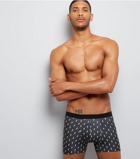 3 Pack Black Printed Boxer Briefs | New Look