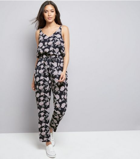 Mela Navy Floral Jumpsuit | New Look