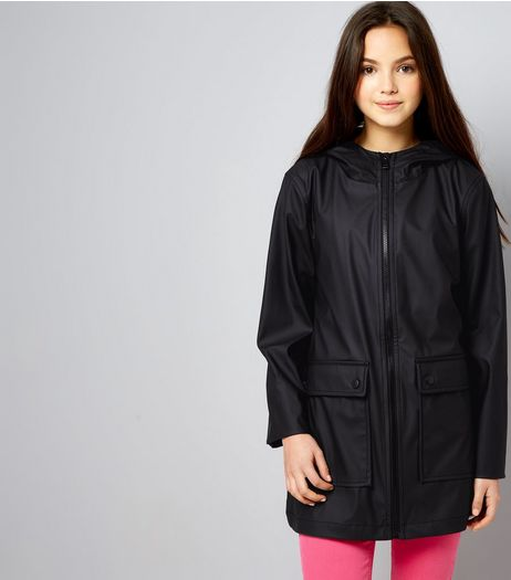 Teens Black Matte Anorak | New Look