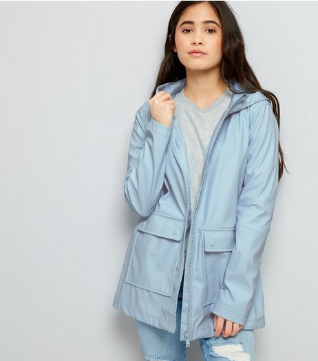 Teens Pale Blue Matte Anorak | New Look