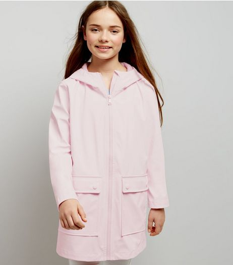 Teens Mid Pink Matte Anorak | New Look